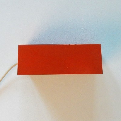Orange 7102 wall light by Jan Hoogervorst for Anvia, The Netherlands 1950's