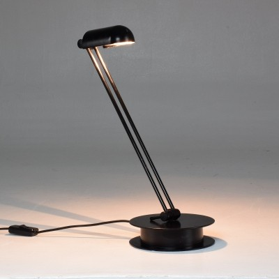 Italian Vintage Black Steel Lamp, 1970s