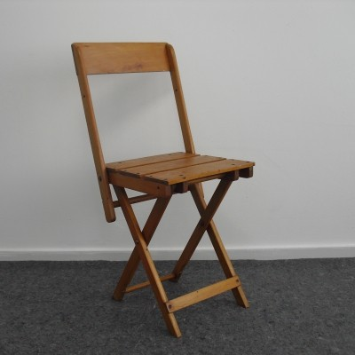 Vintage Children's Folding Chair, Stool & Table in one by E. A. Naether, 1920's