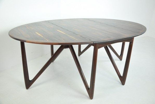 Dining Table in Rosewood by Niels Kofoed, 1960s