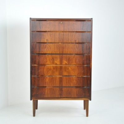 'Tallboy' Chest of Drawers in Rosewood, Denmark, 1950s