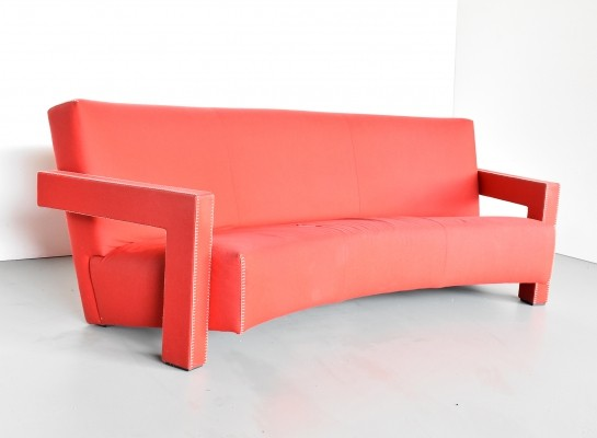 637 Utrecht / no. 89 sofa by Gerrit Rietveld for Cassina, 1980s