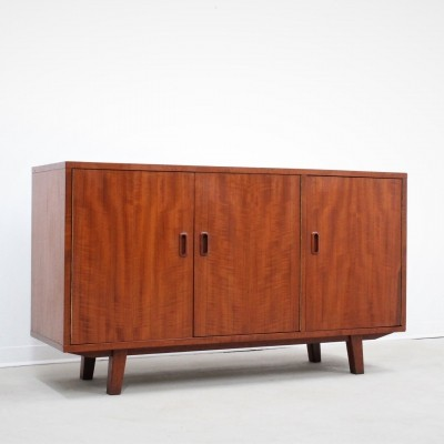 Little Mid century sideboard made of afromosia wood, Italy 1950s