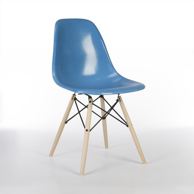 Cobalt Blue Herman Miller Vintage Eames DSW Side Shell Chair