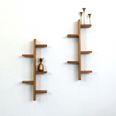 Pair of asymetrical shelves from the fifties