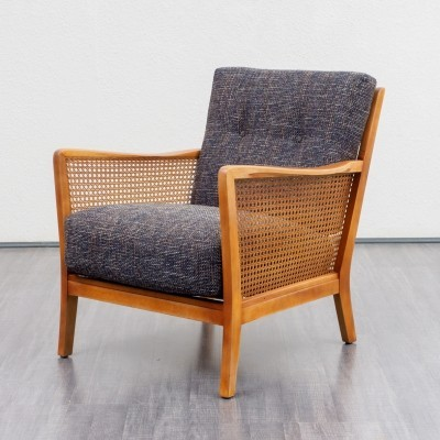 Pair of 1950s armchairs with meshwork