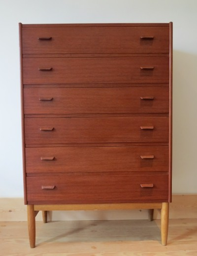 Teak Chest of Drawers 1960s by Poul Volther for Munch