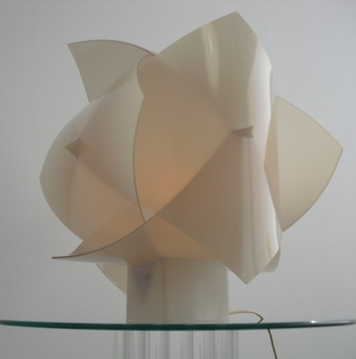 Rare Sculptural Table Lamp by Raoul Raba, 1960's