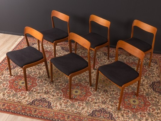 Set of 6 Danish dinner chairs from the 1960s