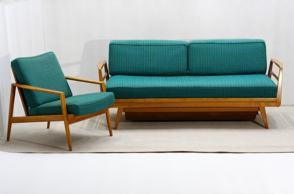 Living room set by Knoll Antimott (1 Daybed + 2 easy chairs), Germany 1950s
