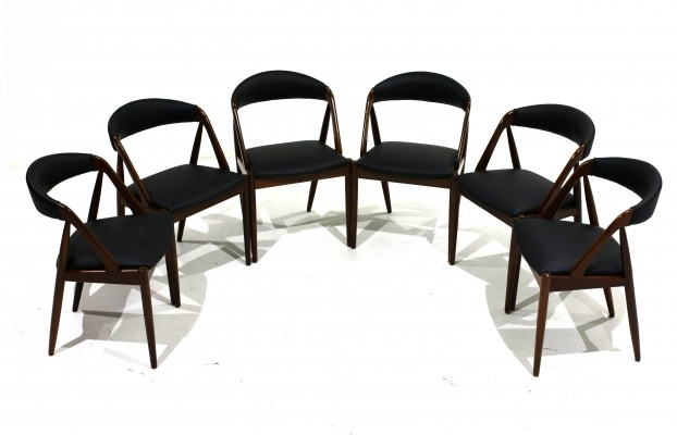 Set of 6 Model 31 chairs by Kai Kristiansen