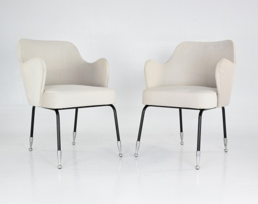 Pair of vintage mid-century armchairs, 1950's