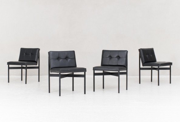 4 dining chairs by Wim den Boon