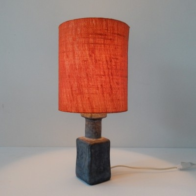 Ceramic table lamp in blue & orange