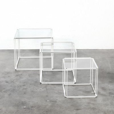 'Isocele' nesting table by Max Sauze for Atrow, 1970s