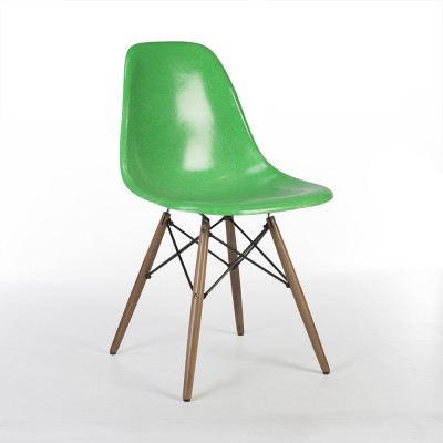 Cadmium Green Herman Miller Original Eames DSW Side Shell Chair