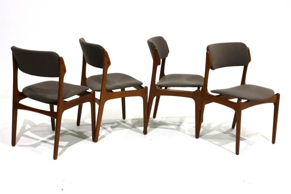 Set of 4 Teak Dining Chairs by Erik Buch for Oddense Maskinsnedkeri A/S, 1960s