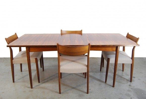 Vintage extendable rosewood dining table, 1960s
