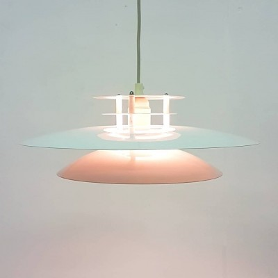 Metal pendant lamp by Knud Christensen, Denmark 1970s