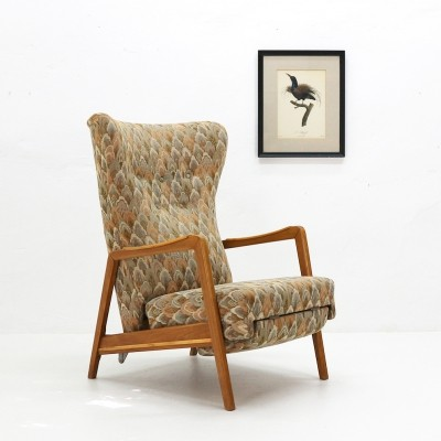 1950s Wingback Chair with Reclining Feature