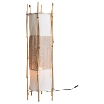 Bamboo floor lamp by Louis Sognot