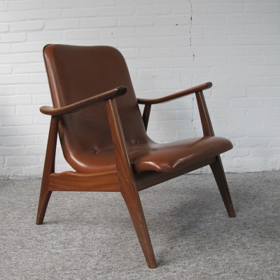 Teak lounge Chair by Louis van Teeffelen for Wébé, 60s