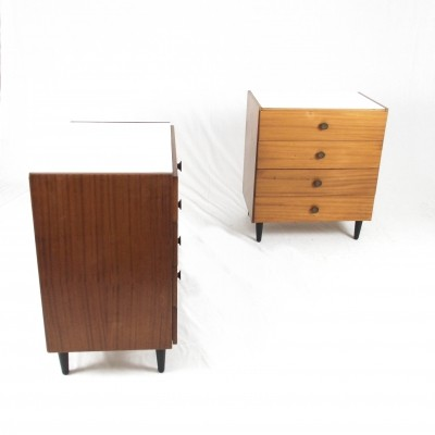Pair of vintage chest of drawers, 1960s