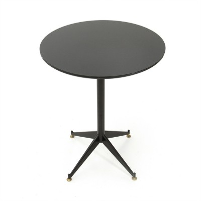 Italian mid-century dining table with black glass top, 1960s