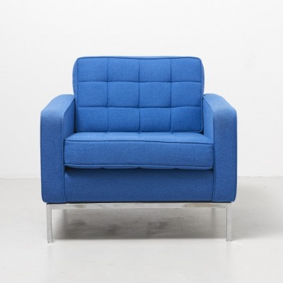 Clear blue easy chair by Florence Knoll, 1954