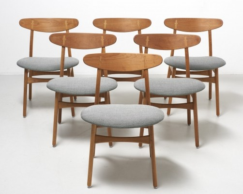 Set of 6 'CH 30' dining chairs by Hans Wegner, 1952