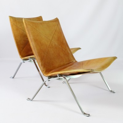 Pair of PK22 lounge chairs by Poul Kjærholm for E. Kold Christensen, 1950s