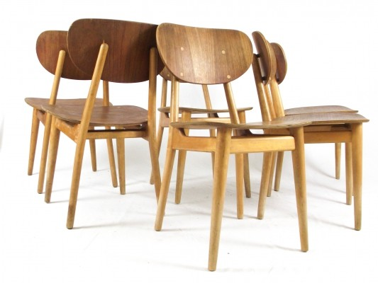 Set of 6 SB13 dining chairs by Cees Braakman for Pastoe, 1950s