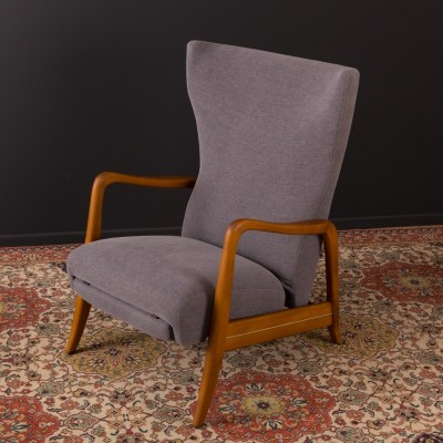 German armchair with footboard from the 1960s