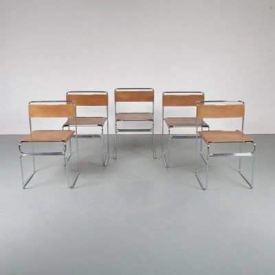 Set of 4 dining chairs by Giovanni Carini for Planula, 1970s