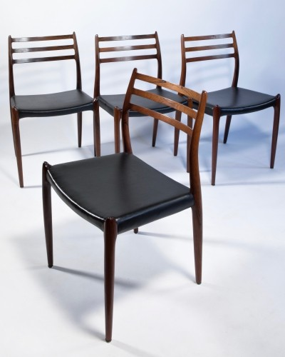 Four rosewood chairs by Niels Otto Møller for J.L Møllers Møbelfabrik, Denmark 1960s