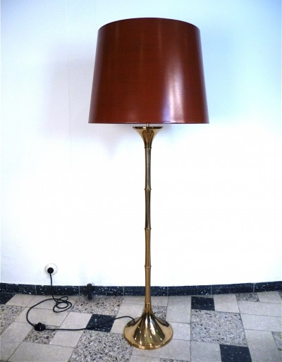Bamboo Brass Floor Lamp by Ingo Maurer for Design M, 1960s