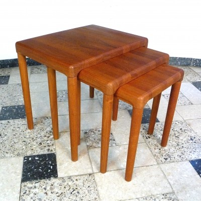 Teak Nesting Tables by Dyrlund, Denmark 1960s