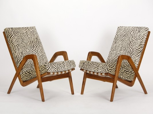 Pair of Mid-Century Lounge Chairs, 1950s