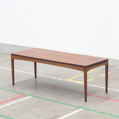 Danish design coffee table with rosewood top & black extension leaf