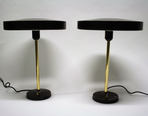 Pair of Timor desk lamps by Louis Kalff for Philips, 1960s