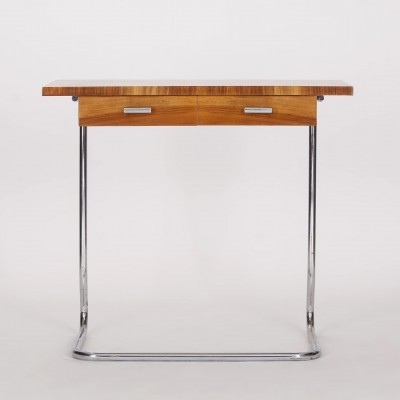 Walnut Veneered Console Table, 1930s