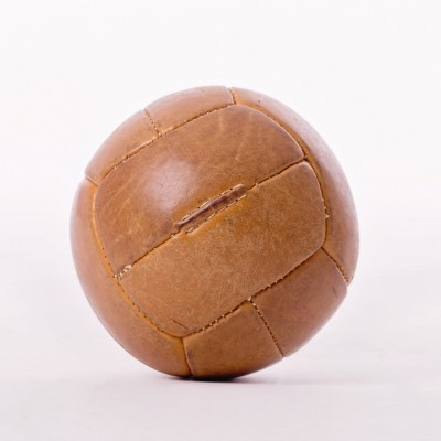 Vintage Leather Medicine Ball, 1940s