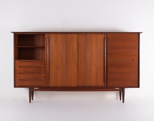 Scandinavian style teak highboard