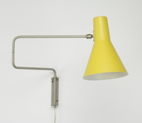 71-01 Paperclip wall lamp by J. Hoogervorst for Anvia Almelo, 1950s