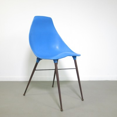 Blue chair by Plaxico, France 1950s