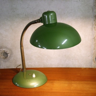 Green Vintage Industrial Bauhaus Desk Lamp by SIS, Germany 1950's