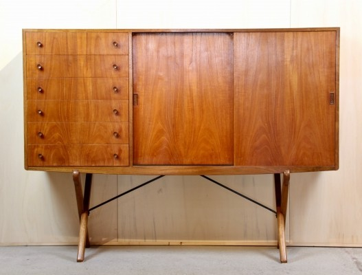 Model CH-304 Teak & Oak Credenza by Hans Wegner for Carl Hansen, 1950s