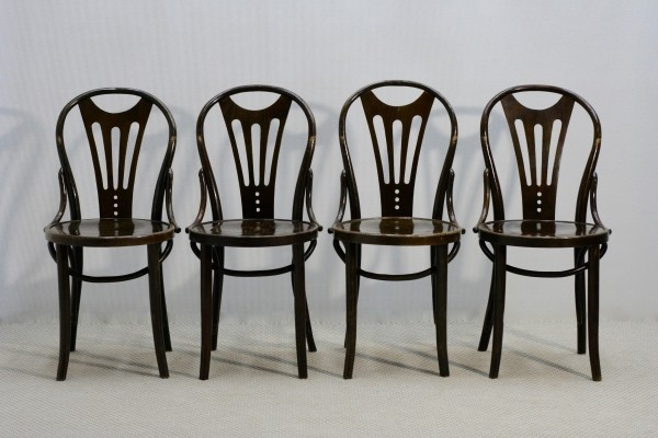 Set of 4 Art Nouveau Chairs, 1920s