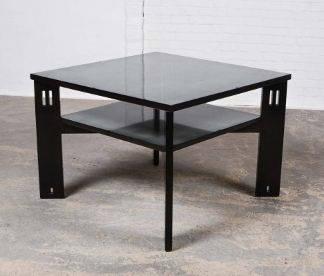 Mid-Century Black Lacquered Coffee Table by Umberto Asnago for Giorgetti, 1970s