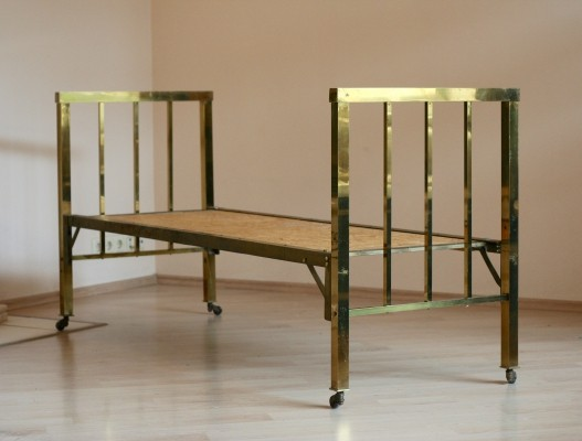 2 x Art Deco Brass Bed, France 1930s